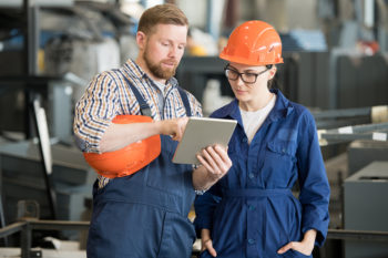 The number of women in manufacturing is growing.